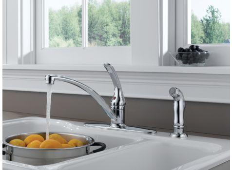 Delta Foundations Single Handle Kitchen Faucet | Morningside Plumbing